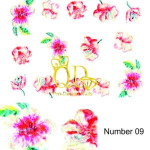 9 5D Nail Art Sticker