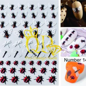 14 5D Nail-Art Sticker