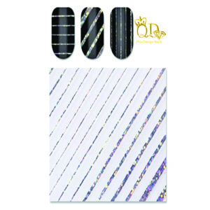 Metallic Nail Stripe Stickers_Holographic_Silver