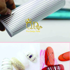 Metallic Nail Stripe Stickers_Silver