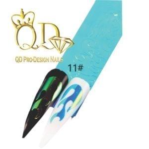 11 flame nail sticker