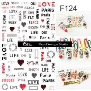 124 QD/F Series Stickers