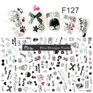 127 QD/F Series Stickers