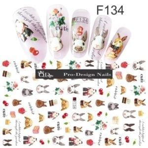 134 QD/F Series Stickers