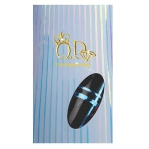 Metallic Nail Stripe Stickers_Holographic/Blue