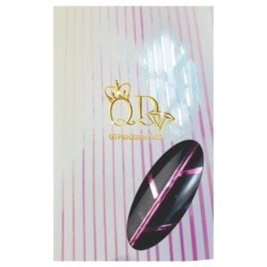 Metallic Nail Stripe Stickers_Holographic/Rose