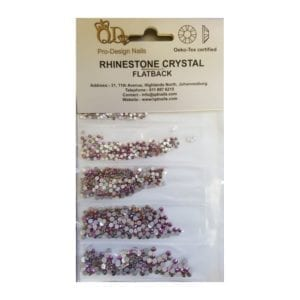 AB/Rose Gold Mixed Rhinestones Pack 1700pc