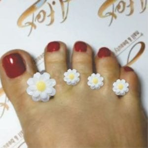White flower#2 8pc toe/separator