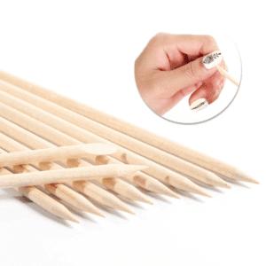 25pc Orange Wood Sticks