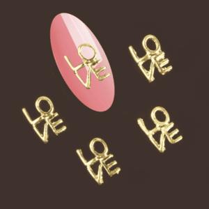 Gold Love metal décor5pc
