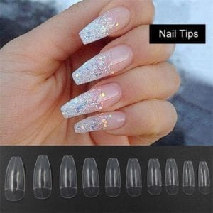 Clear half/full cover Coffin 100/piece tips