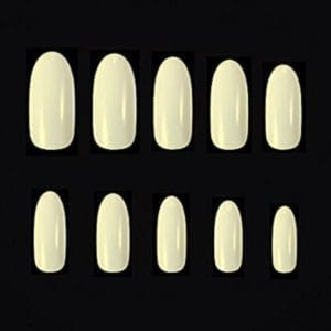 Natural full cover Oval 100/piece tips