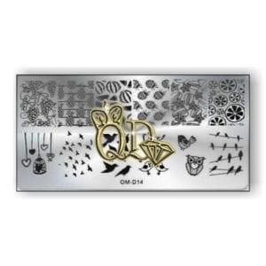 Stamping Plate OMD5 - Birds & Fruit