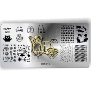 Stamping Plate OMD6 - Cats & Diamonds