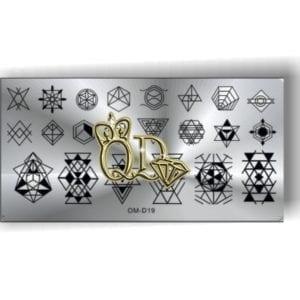 Stamping Plate OMD7 - Geometric Patterns
