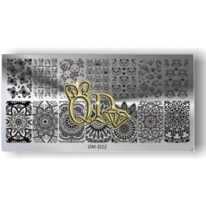 Stamping Plate OMD8 - Cute Animals & Patterns