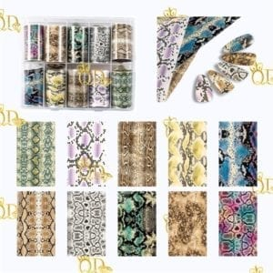13/Nail Transfer foil Set 10pc
