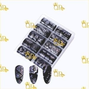 6/Nail Transfer foil Set 10pc
