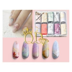 7/Nail Transfer foil Set 10pc