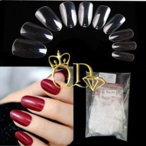 Clear Full cover Short Oval 120/piece tips