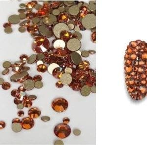 Rhinestone Amber AB_Especiale Mixed