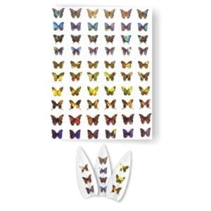 Butterfly Holographic Nail Sticker#1