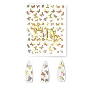 Butterfly Holographic Nail Sticker#2