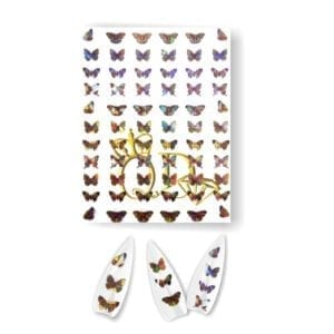 Butterfly Holographic Nail Sticker#4