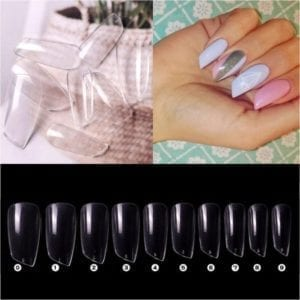 Clear full cover lipstick 100/piece tips