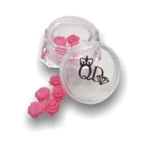 Nail_Art Resin Flowers Deep_Pink