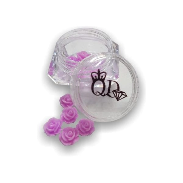Nail_Art Resin Flowers Lilac