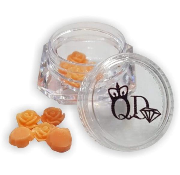 Nail_Art Resin Flowers Orange