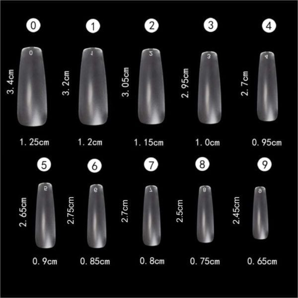 Clear_Matte Coffin full_Cover Nail_Tips