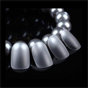 Clear_Matte Short_Square full_Cover Nail_Tips